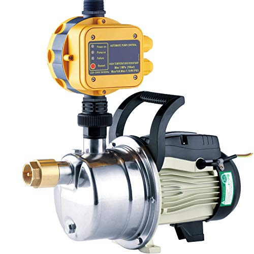 TDRFORCE 1/2 HP Pressure Booster Pump Automatic Water Pump Tankless Shallow Well Self-priming Jet Pump System
