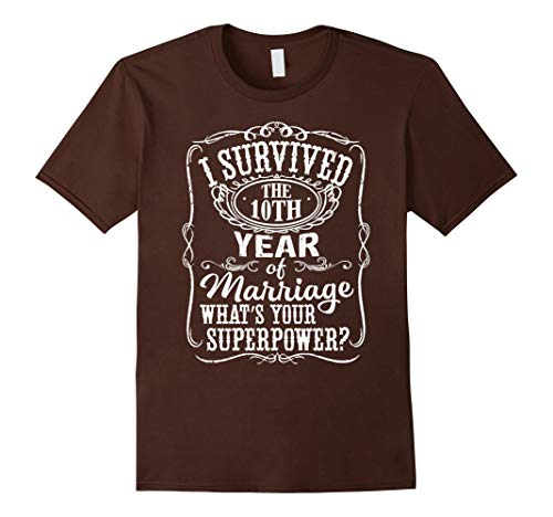 10th 10 Years Wedding Marriage T Shirt - T Shirt for Men and Woman.