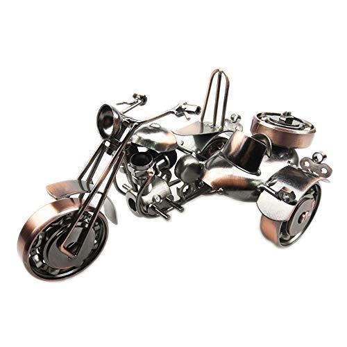 VSander Retro Schmiedeeisen Seite Dreirad Modell Home Wohnzimmer Studie Büro Dekoration Handmade Metall Handwerk Besondere Kreative Geschenk Souvenir Bronze
