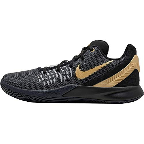 Nike Men's Kyrie Flytrap II Basketball Shoe Black/Metallic Gold/Anthracite Size 7.5 M US
