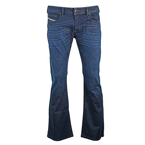 Diesel Herren Boot-Cut Stretch Jeans Zathan R845B dunkelblau (33/32)