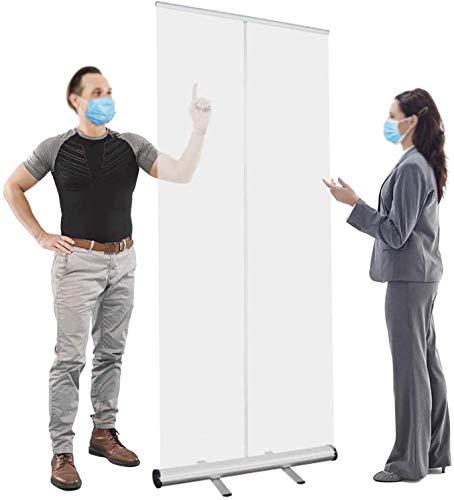 Estornudos autónomos para el día de pie sobre estornudos estornudos estornudos para estornudos para proteger los cafés, tiendas minoristas, (color: 100 x 200 cm)
