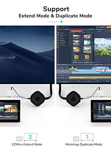 Yehua 5G Miracast HDMI Dongle,Cast Adaptador Inalámbrico de Pantalla HDMI,Admite Airplay Miracast DLNA para iPhone / iPad / iOS / Android / Mac OS a HDTV / Monitor / Proyector miniatura