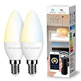 Smart LED Light Bulbs, E12 Candelabra Light Bulbs, Works with Alexa...