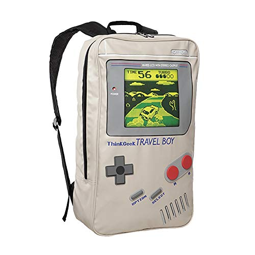 YA&NG Game Boy Shaped Schulranzen Creative Game-Konsole Schoolbag PU Canvas Handspiel-Konsole Rucksack, für Schule/Outdoor/Sport/Wandern/Gamers Geschenk