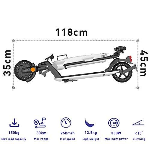 Elektroroller für Erwachsene, 7.5Ah Aluminium Abnehmbare Batterie, 350W Motor bis zu 20km/h, Faltbarer Elektroroller Tragbar & Leichtes Design, 8 Zoll Vollgummireifen E-Scooter mit Straßenzulassung - 2