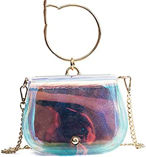 Best Selling Ladies Transparent Package Transparent PVC Jelly Small Handbag Messenger Bag Laser Holographic Shoulder Bag Ladies And Women Sac Color Colorful