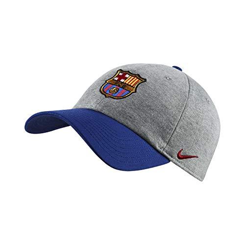 Nike FCB U Nk H86 Cap Ssnl Gorra FC Barcelona, Unisex Adulto, dk Grey Heather/Noble Red, Talla Única
