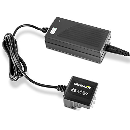 GREENCUT CBT400L - Cargador para baterias de litio de 2,0Ah y 4,0Ah, 40V para herramientas de jardin eléctricas sin cable Bateria de Ion de litio