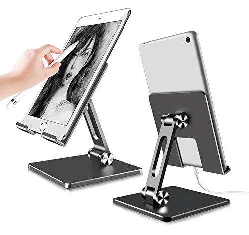FitOkay Soporte Tablet, Portátil Soporte Movil - Multiángulo Soporte para Tablet Ajustable para 2020 iPad Pro 10.5, 9.7, 12.9, iPad Mini 2 3 4, iPad Air, Air 2, Samsung Tab, iPhone, Otras Tablets