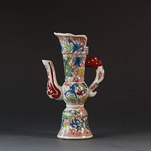 Ethan Qing Kangxi Antiek Keramische Wijnpot Jingdezhen Porselein Oude Goederen Tweedehands Antiek Huis Meubels Items