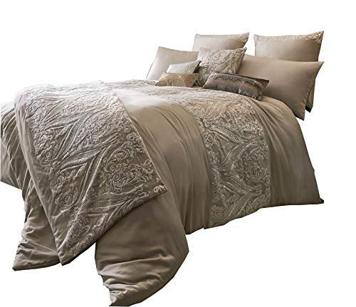 KYLIE MINOGUE Savoy Blush Sequins Satin 200TC Super King Size 3 Piece Bedding Set