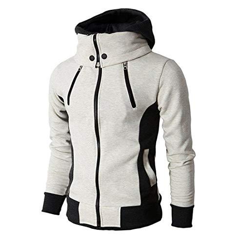 Kapuzenpullover für Herren, Patchwork-Hoodie mit Kontrastfarbe Mode Patchwork...