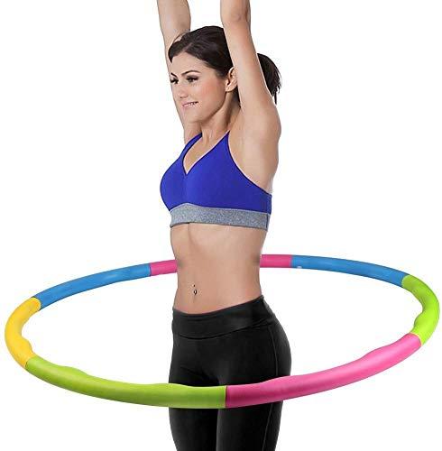 Ahar Collapsible Hula Hoop Exercise Ring Aerobics Weight Loss Hula Hoop (Diameter - 80 cm)