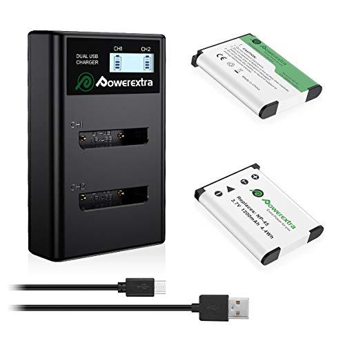 Powerextra - Batería de repuesto para Fujifilm NP-45A NP-
