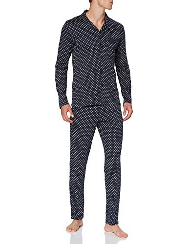 Seidensticker Herren Men Pyjama Long Pyjamaset, Nachtblau, 056