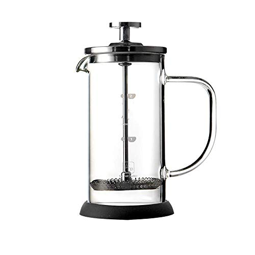Cafetera Francés Prensa Pot/café y té Prensa Pot tetera de cristal hechos a mano de café de filtro prensa ollas 350ML de / 600 ml, 600 ml + olla a presión molino de acero inoxidable Para el hogar, l