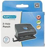 Rapesco PF8700B1 820-P Perforadora de 2 agujeros, Capacidad de 22 Hojas, Negro