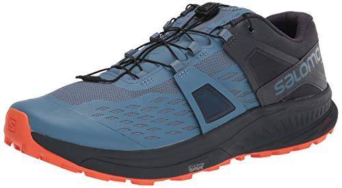 Salomon Men's Ultra/PRO Trail Running, Copen Blue/India Ink/Red Orange, 8