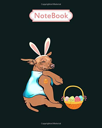Notebook: xoloitzcuintle easter eggs tattoo happy easter day gifts  - for men woman Journal/Notebook Blank Lined Ruled 100 pages 8x10 inches