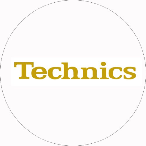 Technics DMC DJ Slipmats (1 Paar) weiß/golden