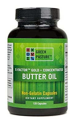Green Pasture X-Factor Gold High Vitamin Butter Oil - 120 Capsules