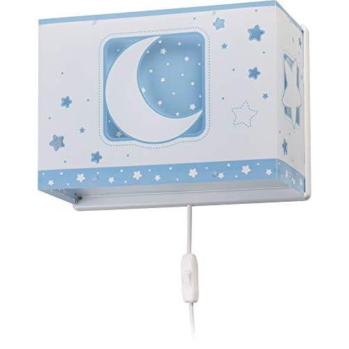 Dalber - Lampada da parete E-27, Chiaro di luna blu, Multicolore, 31 x 13 x 22.5