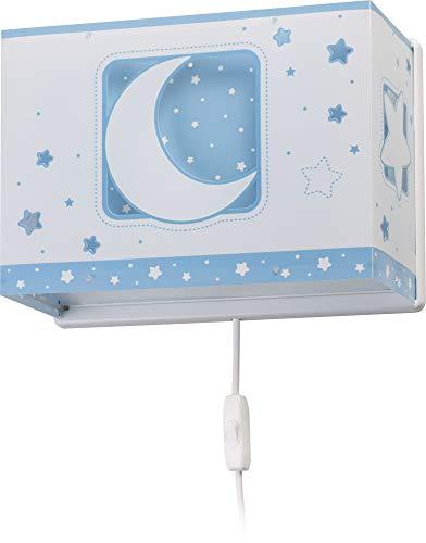 Dalber applique murale enfant Moonlight lune et étoiles Bleu