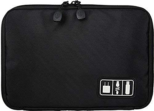 Divinext Universal Travel Organizer Pouch for Small Electronics and Accessories Black