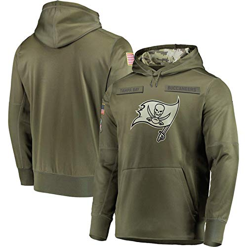 UBUB NFL Jersey Camisa Casual para Hombre Sudadera con Capucha De Fútbol Tampa Bay Buccaneers Sudadera Casual Pullover Logo Sudadera Cómodo Suave Grosor Normal