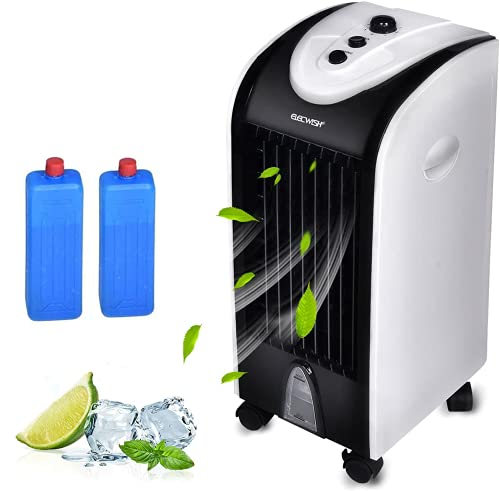ELECWISH Evaporative Cooler Portable Air Cooler Fan Circulator Fan with 3 Speeds Quiet Electric Fan for Home Office