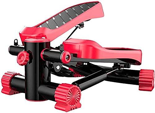 Yunyun Pedal Exerciser Macchina per cyclette ellittica per cyclette con pedale antiscivolo con display integrato per casa e scrivania da ufficio Bicicletta portatile-Rosso