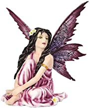 Best Pacific Giftware 5.25 Inch Fairyland Purple Winged Fairy with Flowers Statue Figurine Review