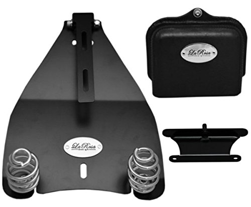 "La Rosa Harley-Davidson Softail Deluxe Heritage Bobber Style Solo Seat Conversion Mount Kit with 3"" Barrel Springs (Fits All 2000 & UP Softail Models)"