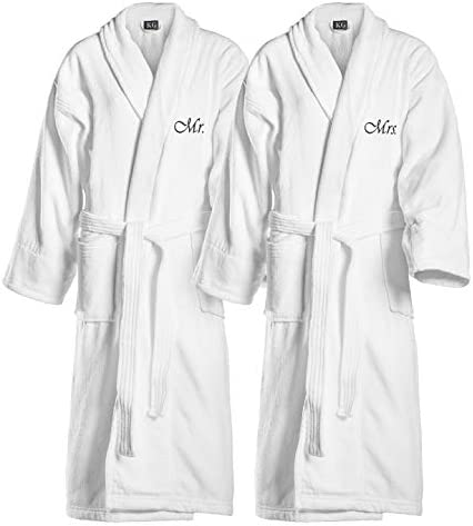 Kaufman Terry Cloth Bathrobes 100 Cotton His Hers Mr Mrs Mom Dad Queen King Papi Mami Groom product image