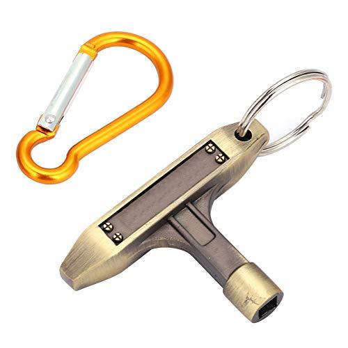 RiToEasysports Schlagzeugschlüssel, Portable Bronze Stimmschlüssel mit quadratischem Sockel und Schlüsselring und Schnalle