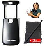 Small-Magnifying-Glass with LED-Light 3X Lighted-Pocket EasY Magnifier - Hand Held Lighted Magnify Glasses for Close Work Reading Books Pill Bottles; Mini Lens for Visually Impaired A Low Vision Aid
