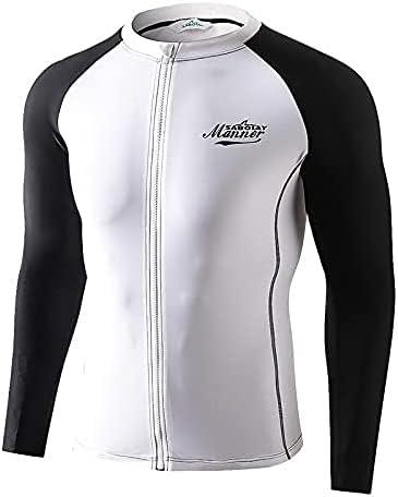 WXJLYZRCXK Men's Swimsuit Swim Shirts UPF Dry Quick Sl 50+ Daily Overseas parallel import regular item bargain sale Long