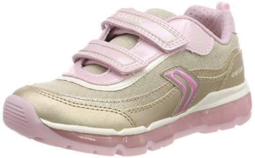 Geox Mädchen J Android Girl a Sneaker, Gold (Platinum/Pink C2ue8), 34 EU