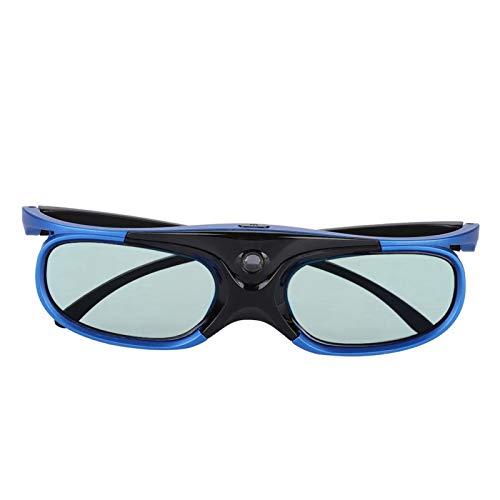 PUSOKEI Gafas 3D DLP Link, Gafas con Obturador Activo con Lente LCD, Alta Transparencia, sin pérdida de Marco, Gran Angular de 178 Grados, Gafas Recargables para proyector DLP