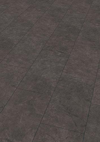 EGGER Home Laminat dunkel grau / anthrazit Steinoptik - Schiefer anthrazit EHL006 (8mm, 2,533 m²) Klick Laminatboden   Bodenbelag Schiefer Steinoptik