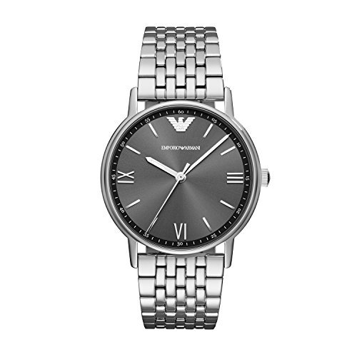 Emporio Armani Herren Analog Quarz Uhr mit Edelstahl Armband AR11068