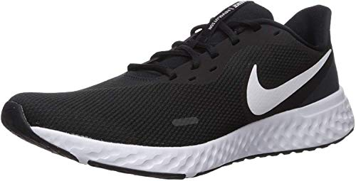 Nike Revolution 5, Zapatillas de Atletismo Hombre, Multicolor (Black/White/Anthracite 002), 43 EU