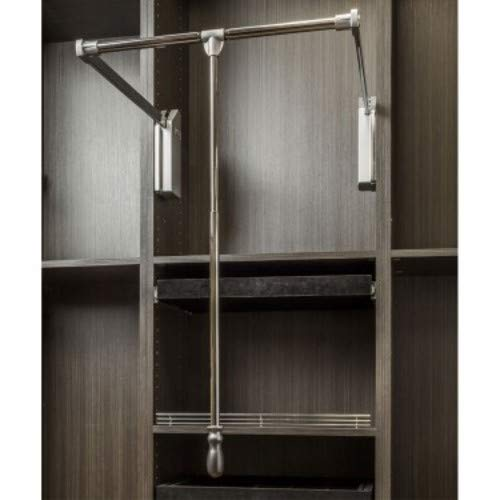 Hardware Resources 1532SC 32 Inch Wide Pull Down Closet Rod with Soft Close, Polished Chrome