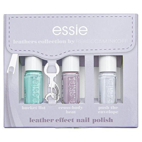 Essie, Kollektion Leather Look Pastel Kit 3Mini Nagellack, 451push The Envelope/452Cross-Body Heat/456Bucket List
