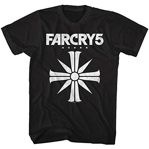 American Classics Far Cry Far Cry 5 - Camiseta de Manga Corta Unisex para Hombre Adulto (algodón), Color Negro - Negro - Medium