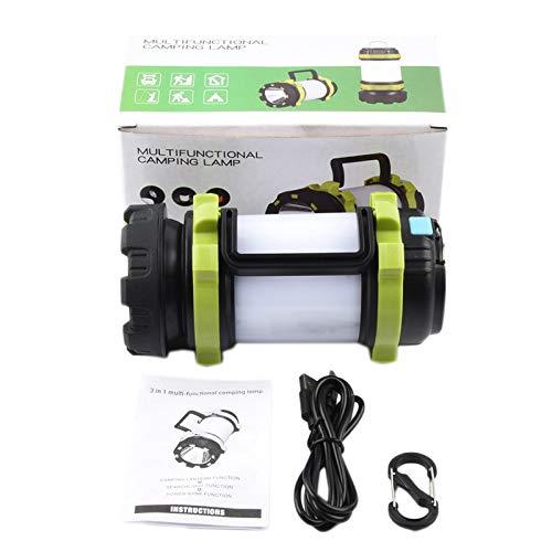 SODIAL LED Lanterne de Camping,3600MAh Alimentation Mobile IPX4 éTanche, Lanterne Parfaite Lampe de Poche pour L'Ouragan Urgence, RandonnéE, Maison et Plus, Cable USB Inclus Vert
