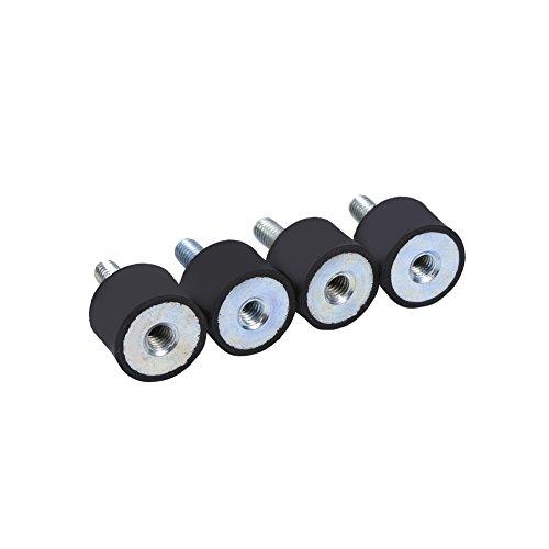 4pcs Vis en Caoutchouc Anti-Vibrations M8 M6, Keenso Isolateur Anti-Vibration Isolation Vibration Amortisseurs pour Voiture Bateau(VD20*15 M6*18)