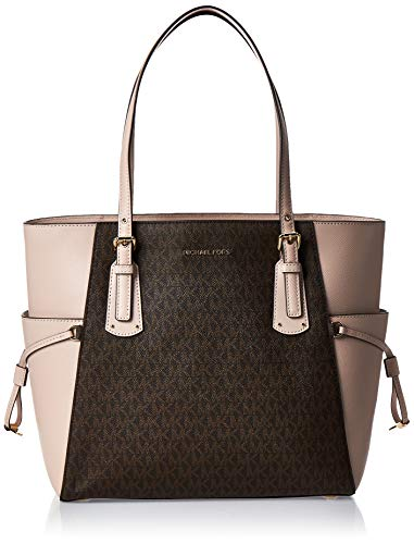 MICHAEL Michael Kors Voyager East/West Tote Brown/Soft Pink One Size