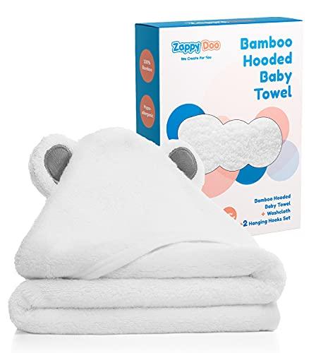 ZappyDoo Bamboo Hooded Baby Towel Set